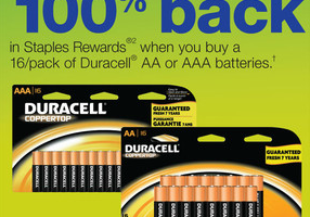 Staples FREE Batteries