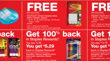 Staples: Free Scotch Tape, Glue Sticks, Pens, Staplers and More