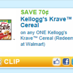 Printable Krave Cereal Coupon = $0.83 at Weis