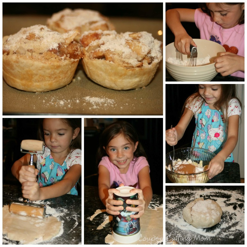making mini apple pies