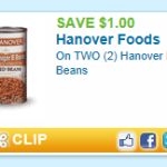 Hanover Beans Printable = $0.75 at Weis
