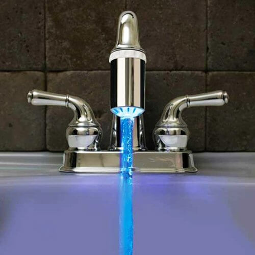 check out this led kitchen sink faucet sprayer nozzle that amazon is