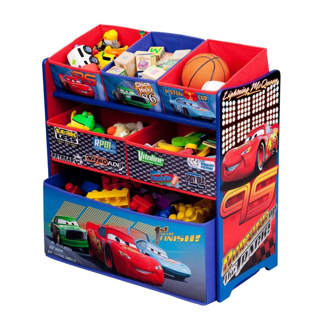 Disney Cars Fairies Multi Bin Toy Organizer Only 25 Shipped
