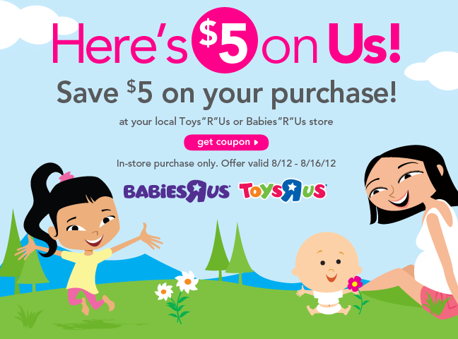 photograph relating to Babies R Us Coupon Printable called Toys R Us Printable $5 Coupon