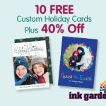 Ink Garden: 10 Free Custom Holiday Cards (New Customers)