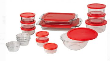 Pyrex Easy Grab 28-Piece Bake and Store Set ONLY $33.33 – Regular Price $52.00
