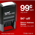Staples: *HOT* $0.99 Self Inking Address Stamp + Free Shipping