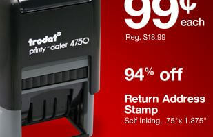Staples HOT 099 Self Inking Address Stamp Free Shipping