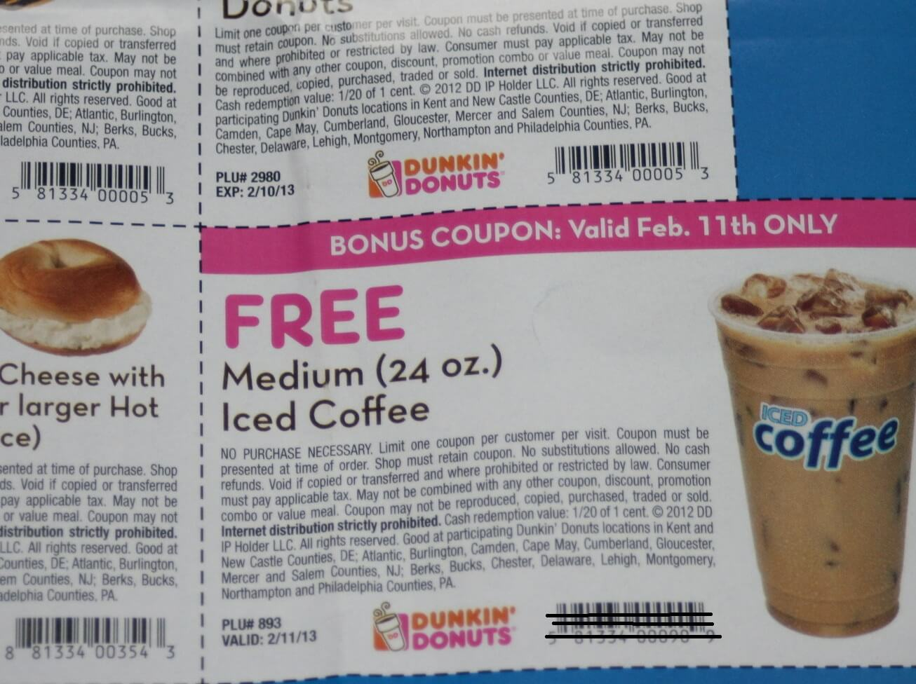 Dunkin donuts in store coupons