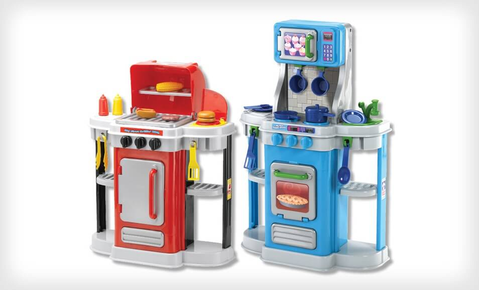 Kids Barbecue And Kitchen Play Set