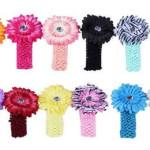 24-Piece Little Girl's Crocheted Flower Headband Set Only $13.99 Shipped