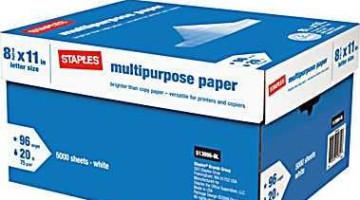 Staples: 10-Ream Case of Multipurpose Paper ONLY $9.99 (Reg. $53.99)