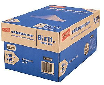 10-Ream Case of Multipurpose Paper ONLY $9.99 (Reg. $53.99)