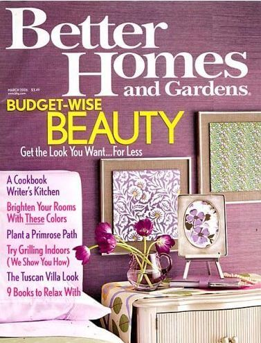 Better Homes and Gardens Magazine Only $4.99 Per Year