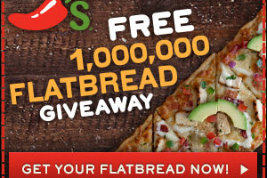 Chili's: FREE Full-Size Flatbread
