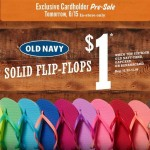 Old Navy: $1 Flip-Flop Presale June 15