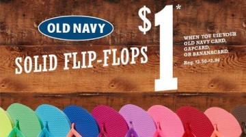 638433ad974a Old Navy is offering their annual  1 Flip-Flop Pre-Sale on June 15th. Solid  color flip-flops are only  1 for Old Navy cardholders.