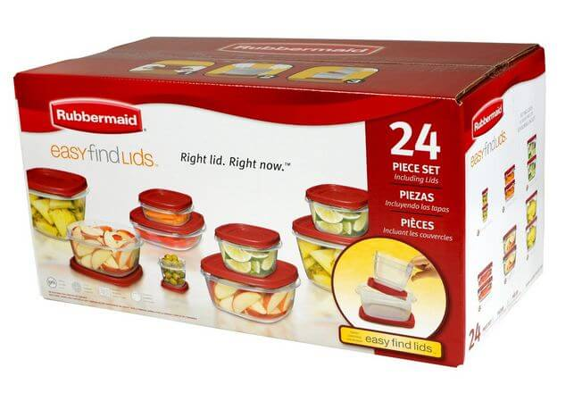 Rubbermaid 24 Piece Food Storage Set 50% Off Regular Price