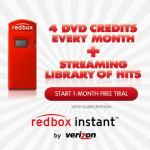 Get 1 FREE Month of Redbox Instant + 4 FREE DVD Credits