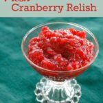 Fresh Cranberry Relish Recipe