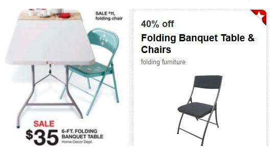 folding banquet table target