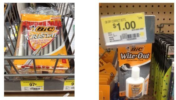 photo about Bic Printable Coupons named $1/1 Bic Printable Coupon \u003d Totally free White Out and Pens at Walmart