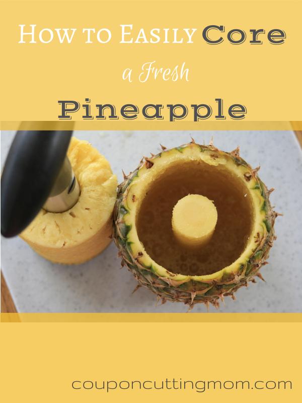 How to Easily Core a Fresh Pineapple