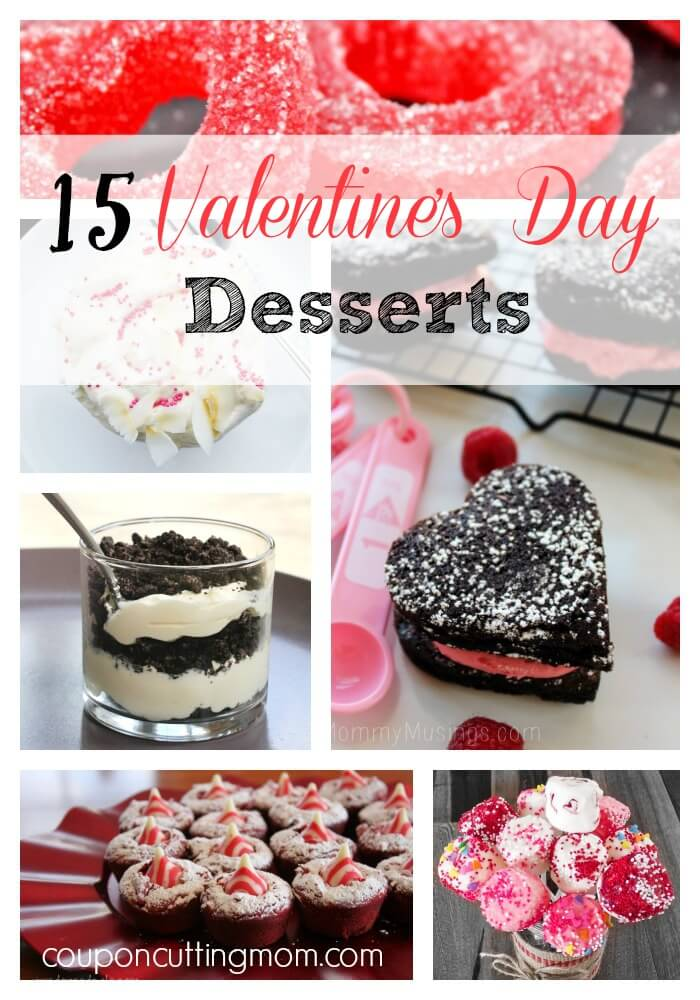 Valentine's Day Desserts recipes for your special someone: dirt pudding, flower bouquets, heart shaped cookies