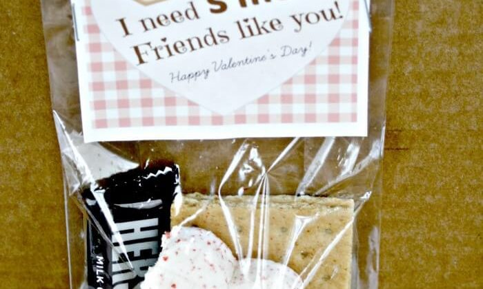 Free Valentine's Day S'mores Card Printable