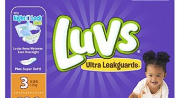 Ginormous Boxes of Luvs Ultra Leakguards Diapers ONLY $13.98