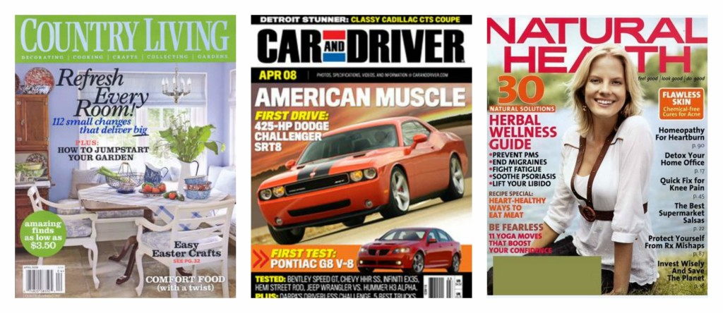 DiscountMags: 2 Magazine Subscriptions For Only $10 - Over 100 Titles