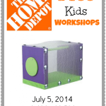 FREE Home Depot Kids Workshop – Build A Bug House (7/5/14)