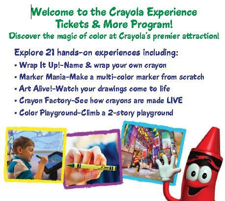 Crayola factory discount coupons