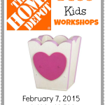 FREE Home Depot Kids Workshop – Build A Heart Box
