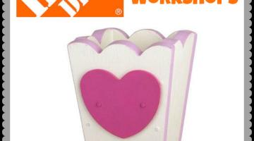 FREE Home Depot Kids Workshop – Build A Heart Box
