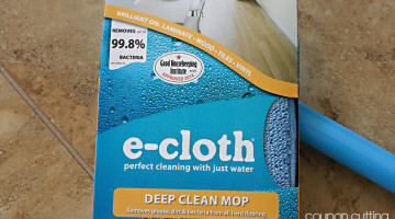 Keep Your Floors Sparkling Clean With e-cloth Deep Clean Mop + Giveaway