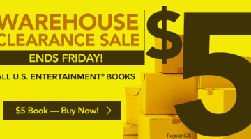 2015 Entertainment Books Only $5.00 (Reg. $35) + FREE Shipping