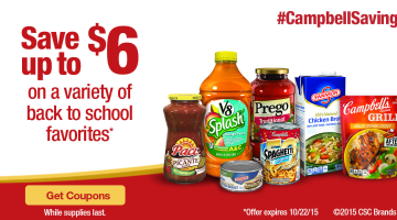 Save up to $6 on a Variety of Back to School Meal Favorites
