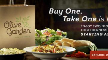 Olive Garden Buy One Take One Meals