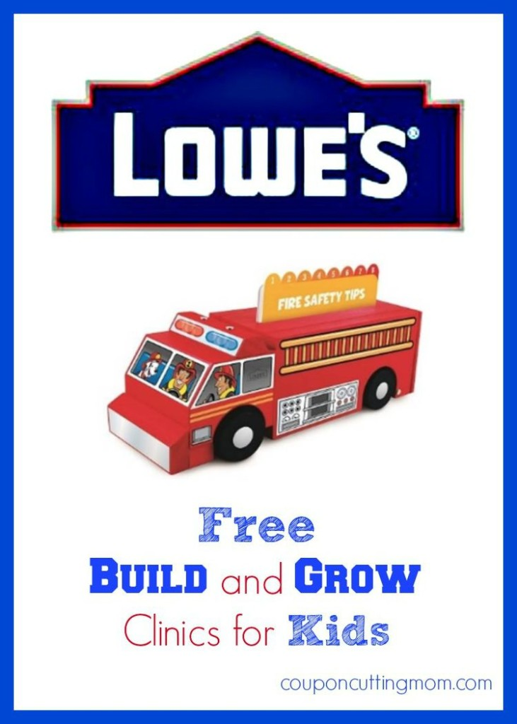 FREE Kids Lowe's Workshop - Build Your Own Fire Truck