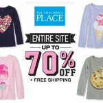 Long Sleeved Graphic Tees ONLY $3.75 + FREE Shipping from The Children's Place