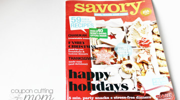 Savory Magazine From GIANT + Money Saving Shopping Tips
