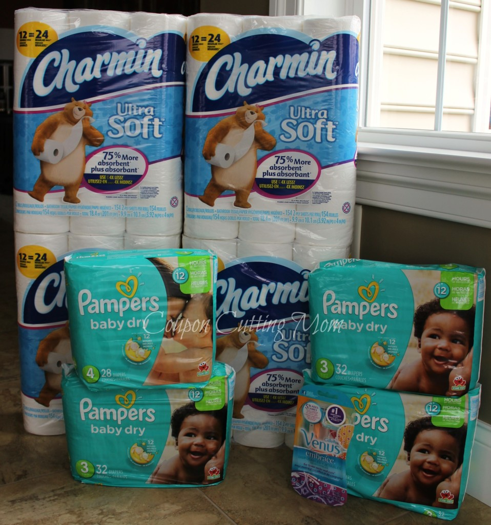 Rite Aid: $102 Worth of Pampers and Charmin Bath Tissue ONLY $14.97