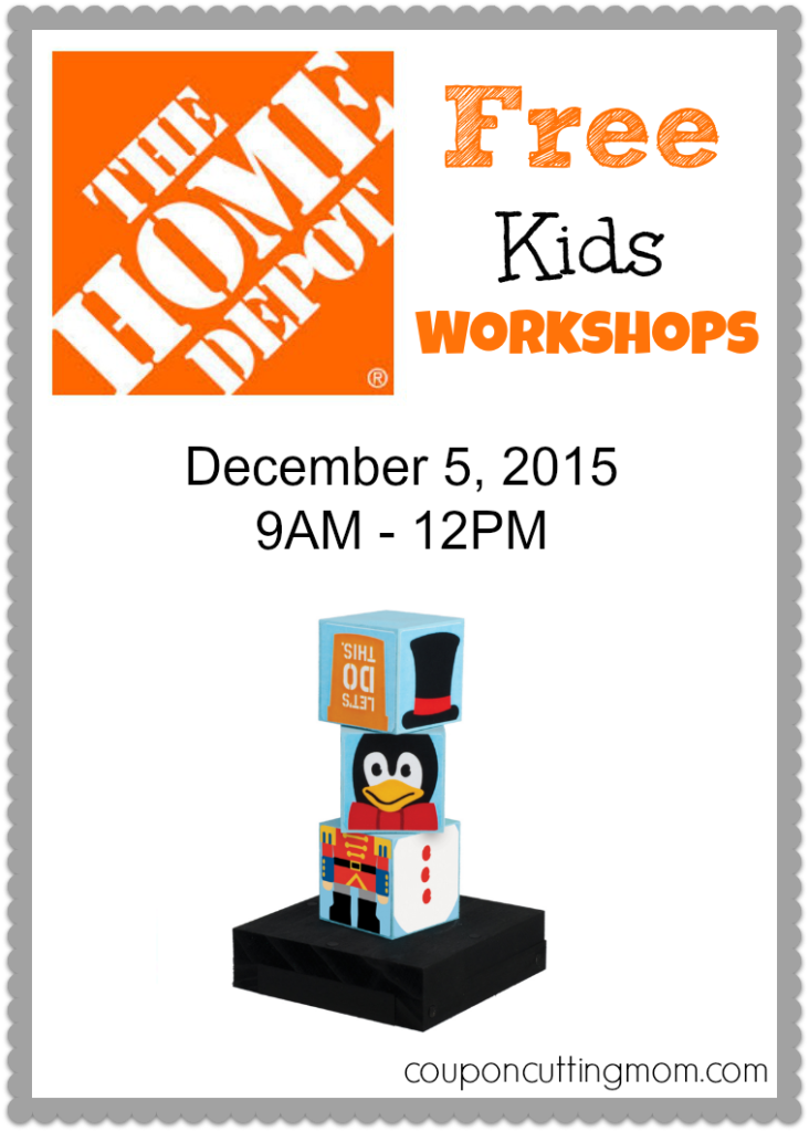 Build Holiday Stacking Blocks at the FREE Home Depot Kids Workshop