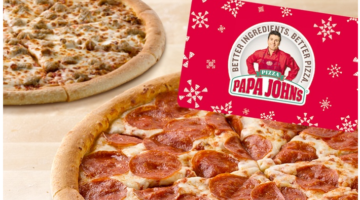 Papa John's: $25 Voucher + 2 Large Pizza ONLY $25.00 (Reg. Value $55.00)