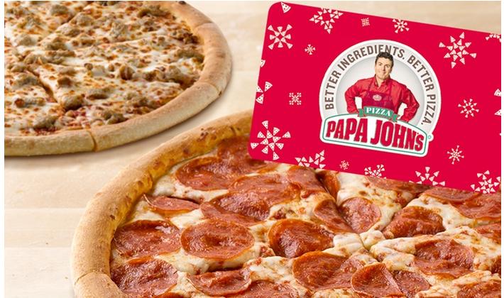 Papa John's: $25 Voucher + 2 Large Pizza ONLY $25.00 (Reg. Value $55.00)