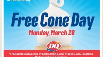 FREE Cone Day at Dairy Queen on March 20, 2017