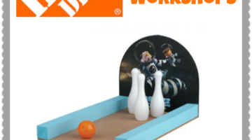 Build an Ice Age Bowling Game at the FREE Home Depot Kids Workshop