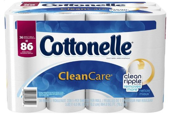 Amazon: Cottonelle CleanCare Bath Tissue Only $0.19 Per Single Roll + FREE Shipping