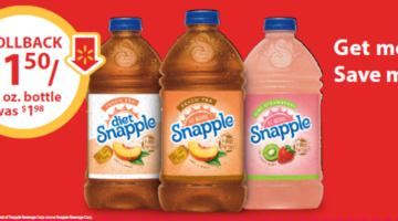 Rollback Pricing on Snapple® Tea at Walmart